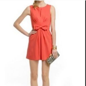 Trina Turk Coral 'Waldron' Bow Front Dress Small